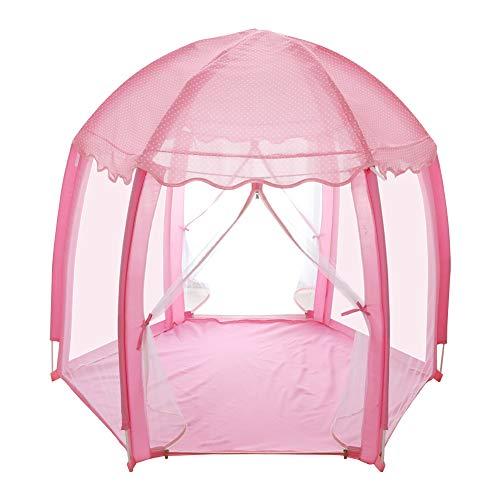 yuandao Hexagonal Kids Tent, New Princess Tent Hexagonal Princess Castle Indoor and Outdoor Girls Tent, 55'' x 51''(DxH) by yuandao (Image #1)