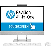 HP Pavilion 24 All-in-One 23.8 Multi-Touch Full HD Desktop - 7th Gen Intel Core i5-7400T Processor up to 3.00 GHz, 8GB DDR4 RAM, 1TB HDD + 16GB Intel Optane Memory, Intel HD Graphics, Windows 10