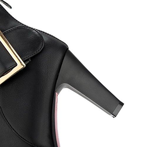 BalaMasa Abl10498, Sandales Compensées femme - Noir - noir,