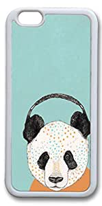iPhone 6 Cases, Personalized Protective Case for New iPhone 6 Soft TPU White Edge Panda