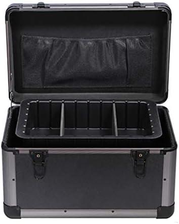 ポータブル救急箱ロック可能な2層救急箱薬ストレージアルミ救急キットバッグ大調整可能なショルダーストラップ