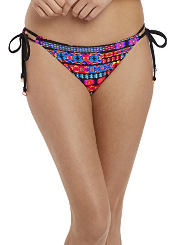 Freya Echo Beach Rio Side Tie Bikini Bottom, S, Multi