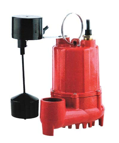 Red Lion Rl-SC50V 1/2 HP Cast Iron Sump Pump with Vertical (Automatic Vertical Sump Pump)