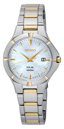 - Seiko Solar Ladies Two Tone Bracelet Watch