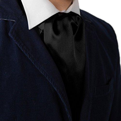 - Dan Smith DRA7E01K Black Solid Mens Ascot Business Boyfriend Cravat Evening Designer