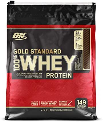 OPTIMUM NUTRITION GOLD STANDARD 100% Whey Protein Powder, Double Rich Chocolate, 10 Pounds Bags