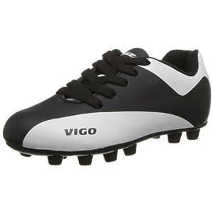 Vizari Vigo FG Soccer Shoe (Toddler/Little Kid/Big Kid),Black/White,6 M US Big Kid