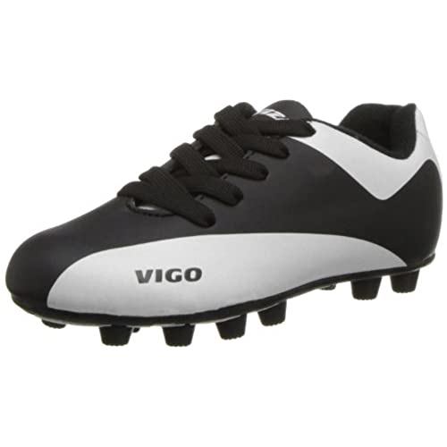 Vizari Vigo FG Soccer Shoe (Toddler/Little Kid/Big Kid),Black/White,8 M US  Toddler