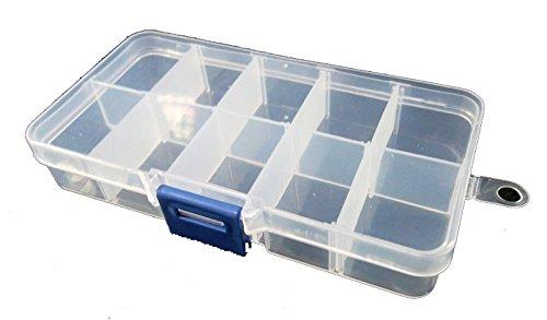Perle perline Box Scatola di plastica contenitore a 10Fûcher fai da te bricolage di B14 b014