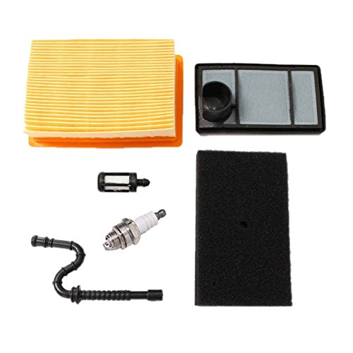 (HIPA Air Filter with Fuel Line Filter Spark Plug for STIHL TS400 Concrete Cut Off Saw)