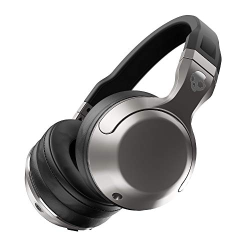 (Skullcandy Hesh 2 Bluetooth Wireless Over-Ear Headphones with Microphone, Supreme Sound and Powerful Bass, 15-Hour Rechargeable Battery, Soft Synthetic Leather Ear Cushions, Black/Silver)