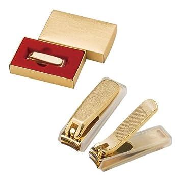 金メッキ爪切り(小) カバー付|121KC