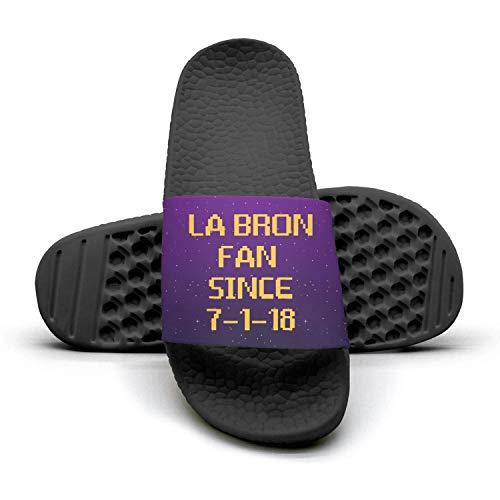 ADIDII Summer Mens Printed Non-Slip Slippers flip Flop Sandals La_Bron_Yellow_Logo_Basketball Summer ADIDII Casual Parent B07GWWXB3W e4b67f