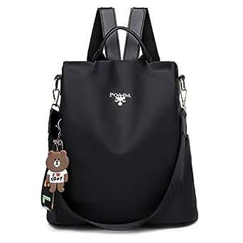 FTSUCQ Womens/Big Girls Casual Daypack Satchels Shoulder Handbags Casual Bucket Bag Hobos Satchels Purse (Black)