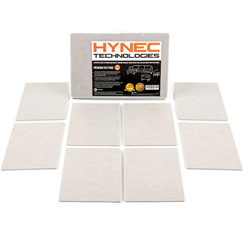 Hynec Premium Furniture Felt Pads Set Self Adhesive Stick On Floor Protection (8 Large Pieces Set)