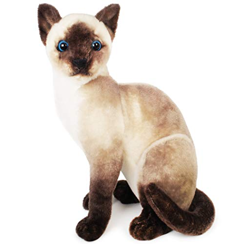 VIAHART Stefan The Siamese Cat | 14 Inch Stuffed Animal Plush | by Tiger Tale Toys (Orange Dog Stuffed Animal)