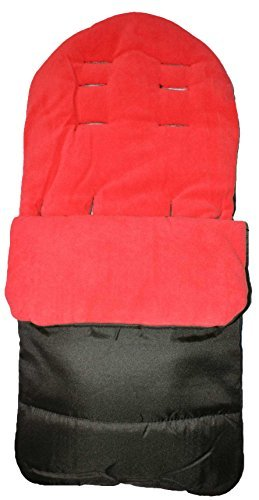 Saco de dormir universal para carritos de bebés, suave, cerrado, color rojo For-Your-Little-One