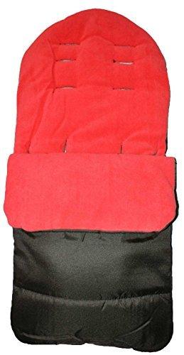 Saco de dormir universal para carritos de bebés, suave, cerrado, color rojo