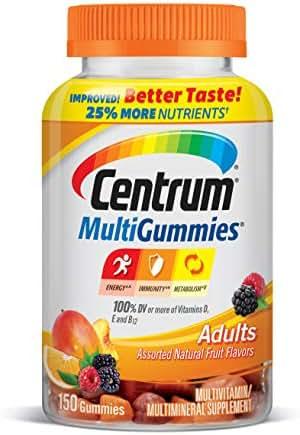 Centrum Adult Multivitamin/Multimineral Gluten-Free Supplement Gummies, 150 Count