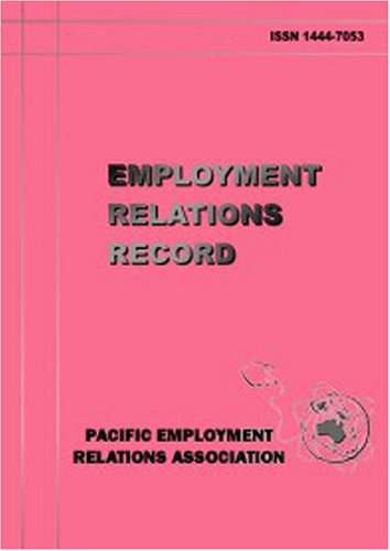 Record Of Employment - Employment Relations Record