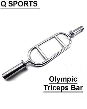 """Q Sports tríceps barra para 2 """"peso olímpico placas – levantamiento de pesas &"""