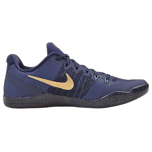 Nike Kobe Xi, Zapatillas de Baloncesto para Hombre Midnight Navy/Metallic Gold