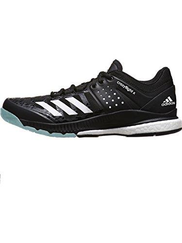 bcd470520 Galleon - Adidas Women s Crazyflight X Volleyball Shoe Black White Light  Solid Grey
