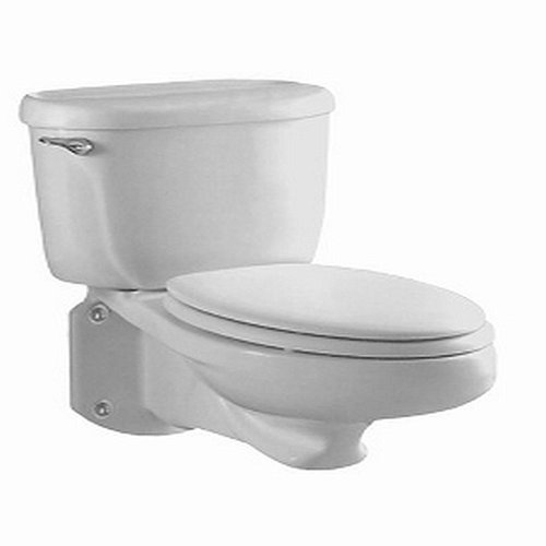 American Standard Wall - American Standard 2093.100.020 Glenwall Pressure Assisted Elongated Wall-Mounted Toilet, White