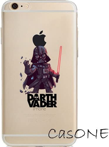 Star Wars - Darth Vader, Storm Trooper, Chewbacca Jelly Clear Case for Apple iPhone 6 Plus/iPhone 6s Plus (5.5