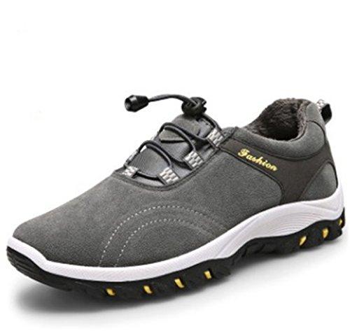 Bininbox Mens Casual Sneakers Traspiranti Scarpe Da Ginnastica Sportive Impermeabili Da Running Con Cotone Grigio Scuro