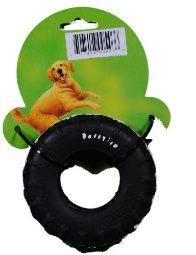 4-black-durable-rubber-tuff-tire-dog-chew-toy-by-carrefour