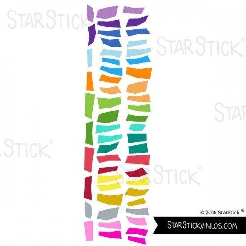 Tiras de confeti de colores Vinilos infantiles StarStick