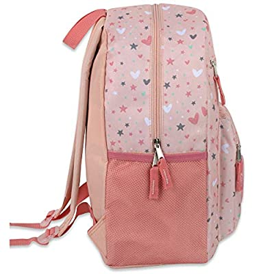 Girl's Backpack With Plush Applique And Multiple Pockets (Plush Starry Hearts) | Kids' Backpacks