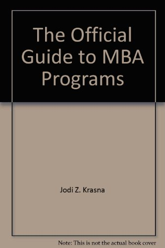 The Official guide to MBA programs