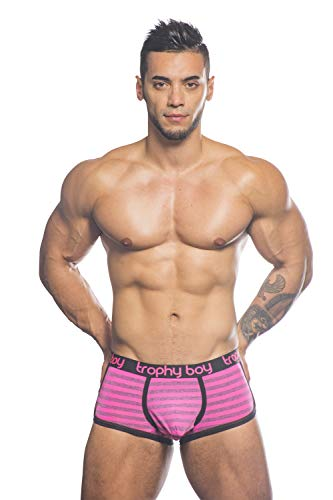 Andrew Christian Trophy Boy Electric Boxer, Electric Pink Stripes, ()