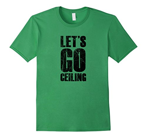 Mens Let's Go Ceiling - Ceiling Fan Halloween Costume T-shirt Small Grass