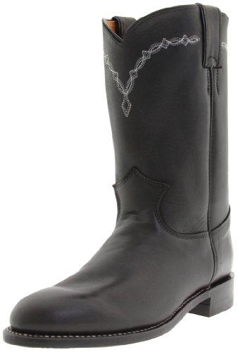 "Justin Boots Women's U.S.A. Domestic Roper 10"" Boot Roper Toe Leather Outsole,Black Chester,7 C US"