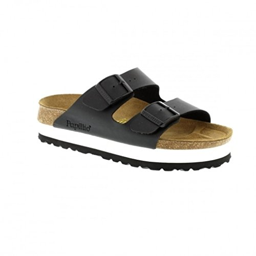 birkenstock-womens-papillio-arizona-2-strap-cork-footbed-platform-plateau-black-43-n-eu