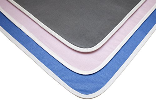 Full-Size Heat & waterproof Ironing Blanket - Extra Large Silicone Coated Ironing Mat with anti-skid, waterproof & heat-safe backing to protect any surface/furniture - Ironing Mat - Color/French Blue