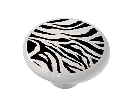 - Jagged Zebra Ceramic Drawer Knob