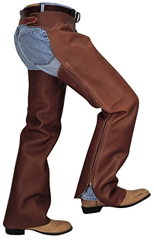Grain Leather Chaps - Weaver Leather Shotgun Full Grain Leather Work Chaps, Brown, Small
