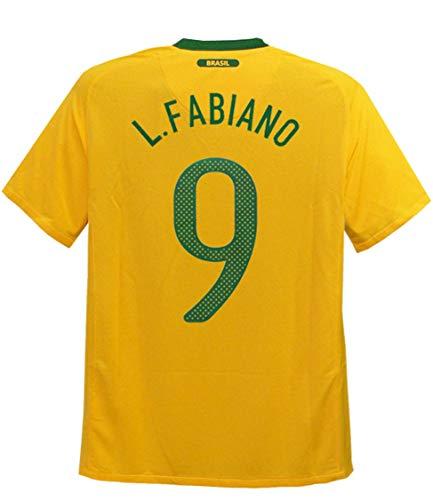 突き出すセンサー本会議(ナイキ) NIKE 10 11ブラジル代表 ホーム 半袖 ルイス?ファビアーノ 369250-703