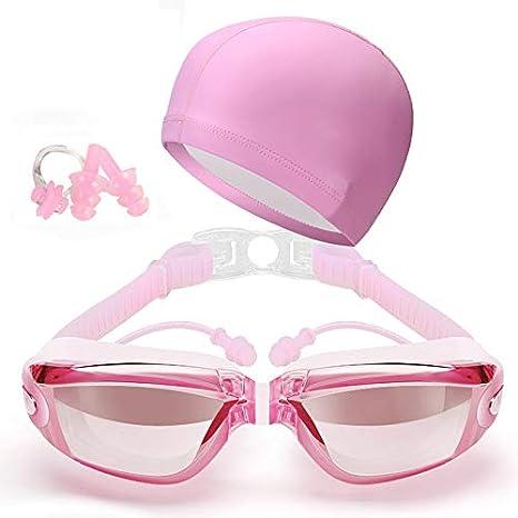 Alftek - Gafas de natación con protección auditiva, Impermeables, antiniebla, para Adultos