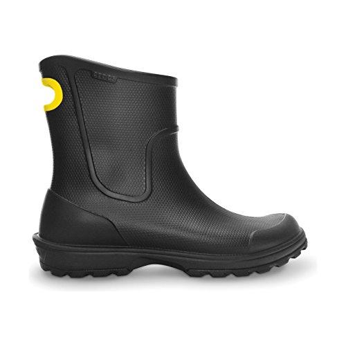 Crocs Mens Wellington Rain Boots (8 US) (Black)