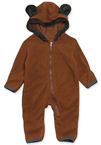 Baby Costume 0-3 Months (VILOVE Newborn Infant Unisex Baby Animal Costume Winter Autumn Fleece Hooded Romper Cosplay Jumpsuit (3-6 Months/Tag 70,)