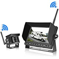 """Veclesus IP68 Waterproof 7"""" LCD Wireless Backup Camera System"""