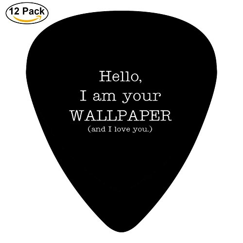 Miufun Guitar Picks I Love You Custom Three Size Electric Celluloid Plectrums (12-Pack)
