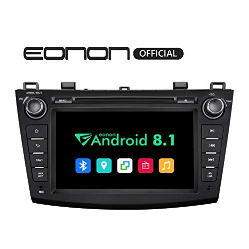 (Eonon Car Stereo Radio Android 8.1 Head Unit 2GB RAM +32GB ROM Quad-Core 8 Inch in Dash Touch Screen Car Radio Audio Applicable to Mazda 3 Series 2010,2011,2012 and 2013 with Bluetooth WiFi-GA9263B )