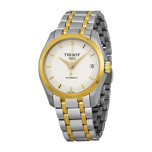 Tissot Couturier Automatic White Dial Two-tone Ladies Watch T0352072201100 (Ladies Two Tone White Dial)