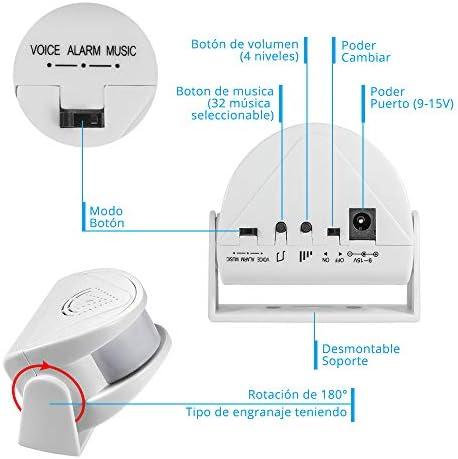 KERUI M5 Timbre Inalámbrico para Puerta, Sensor de Movimiento con ...